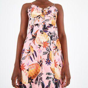 NWT Anthropologie Farm Rio Linen Tropical Dress M